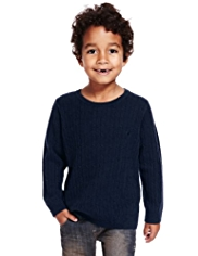Autograph Pure Cashmere Cable Knit Jumper