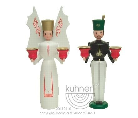 German-Angel-and-Mountain-Man-Pair-Candle-Stand