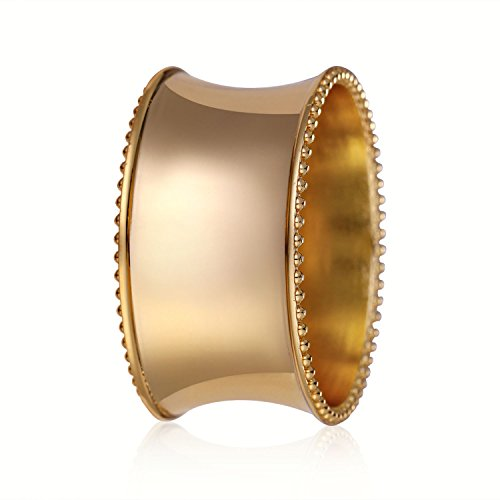 6pcs Gold Napkin Ring Serviette Nanpkin Holder Wedding Table Dinner Decor Craft (Grape Sizer Set compare prices)
