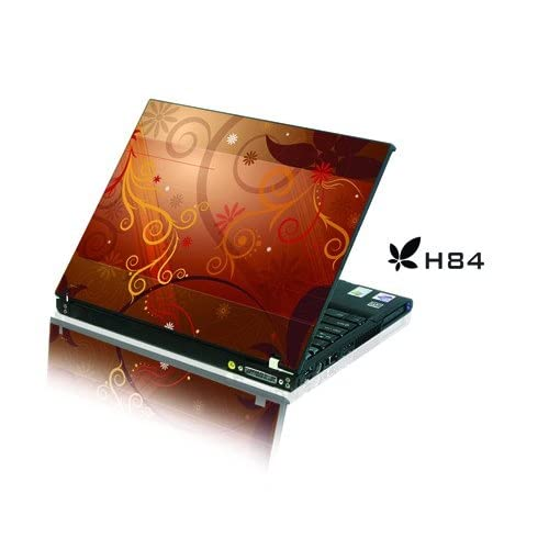 Laptop Notebook Skins Sticker Cover Colorful Flower (Brand New with 2 FREE touch pad decals)