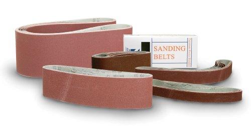 Mercer Abrasives 111150-5 Premium Aluminum Oxide Sanding Belts, 4-Inch by 36-Inch, 150X Grit, 5-Pack