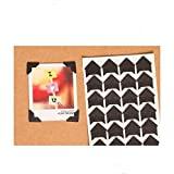 360 Count Self-Adhesive Acid Free Photo Corners Scrapbooks Memory Books (Black) (Color: Black)