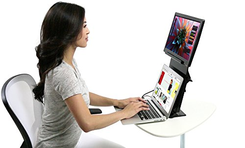 VEYEM Portable Ergonomic Stand for Laptops, USB-Powered Monitors, Tablets and More; Compatible