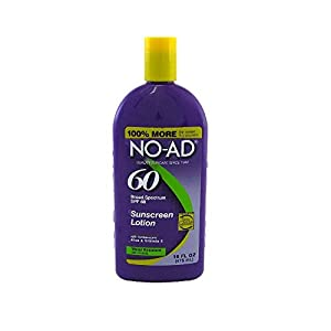 NO-AD Sunscreen Lotion, SPF 60, 16 oz (Pack of 2)