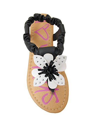 b6d2918b77e CELINE-21 Little Girls Thong Flat Sandals with Flower