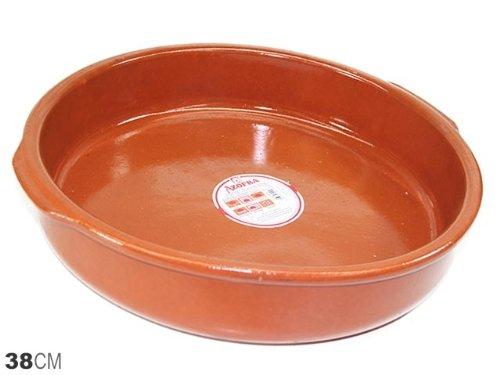 Espagnol Plat à tapas en terre cuite/Coupelle Cazuela-38cm Diamètre