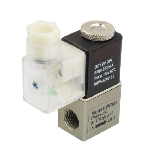 """DC 12V 250mA 2 Position 2 Weise elektromagnetische Magnetventil Ventil G1/4 """" de"""