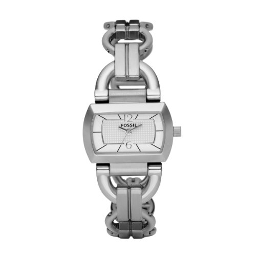 Fossil ES2479 - Reloj para mujeres, correa de acero inoxidable color plateado