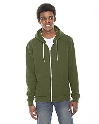 American Apparel Flex Fleece Two-Tone Zip Hoodie
