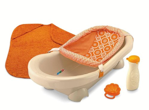 baby bath fisher price dreamsicle collection bath center tan orange. Black Bedroom Furniture Sets. Home Design Ideas