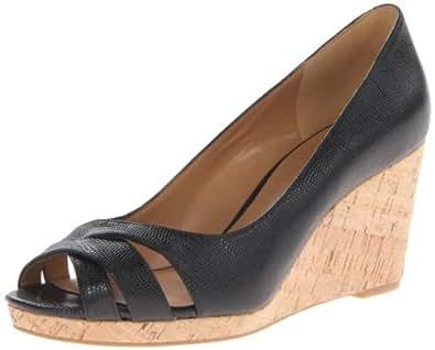 Nine West Women's Jelica New Hollywood Wedge Sandal,Black,6.5 M US
