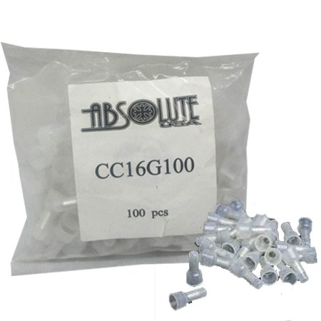Absolute Cc16G100 Crimp Caps 100 Pcs. For Many Different Types Of Car Audio And Security Installations