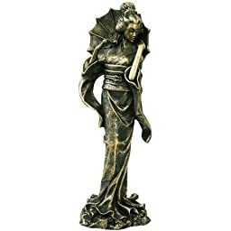 13'' Bronze Finish Japanese Beautiful Geisha Lady by PTC