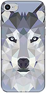 The Racoon Grip printed designer hard back mobile phone case cover for Apple Iphone 7. (Ice Wolf E)