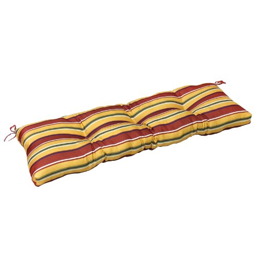Greendale Home Fashions 51-Inch Indoor/Outdoor Bench Cushion, Carnival Stripe