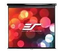"Elite Screens 119 Inch 1:1 Manual Pull Down Projection Screen (84""Hx84""W)"