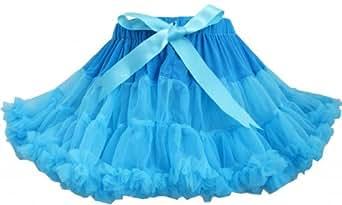 EP65 Girls Dress Tutu Dancing Skirt Blue Party Size 9-10 Years