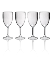 4 Acrylic Wine Glasses