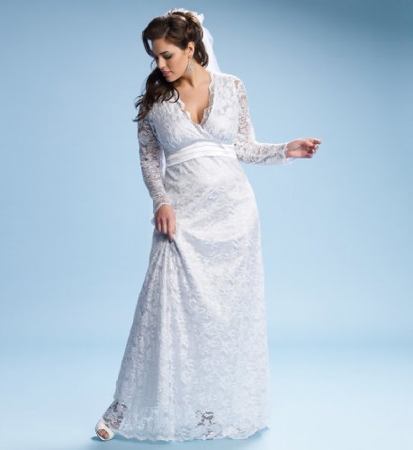 Cheap Plus Size Analisa Lace Wedding Dress