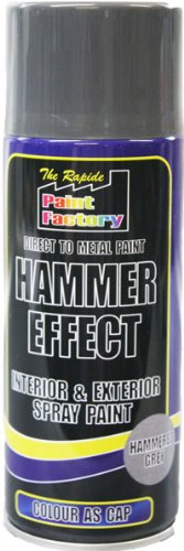 Grey Direct to Metal Hammer Effect Spray Paint 400ml