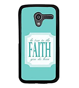 iFasho Faith Quote Back Case Cover for Moto X