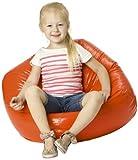 LePouf Jack and Jill Bean Bag Lounge Chair, Orange