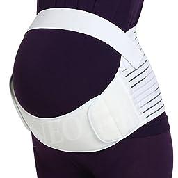 Maternity Belt - NEOtech Care ( TM ) Brand - Pregnancy Support - Waist / Back / Abdomen Band, Belly Brace - White Color - Size XXL