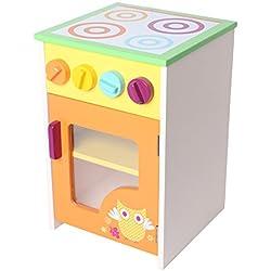 Labebe - Kinder Lagerregal Aufbewahrungsbox Kinderküche Spielküche aus Holz (Eule)