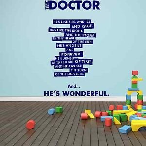 iconic stickers the doctor who timelord matt smith quote