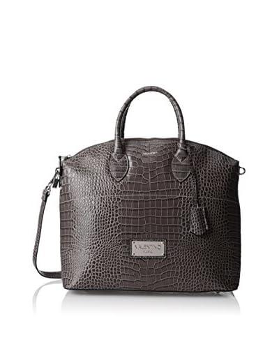 Valentino Bags by Mario Valentino Women's Bravia Satchel, Croco Grey
