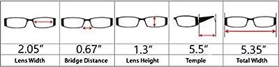 5-pack Spring Hinges Vintage Reading Glasses Men Includes Sun Readers