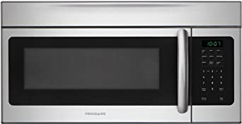 Frigidaire FFMV164L 1.6 Cubic Foot Over-The-Range Microwave with Fits-More Capacity, 1,550 Watts and, Stainless Steel