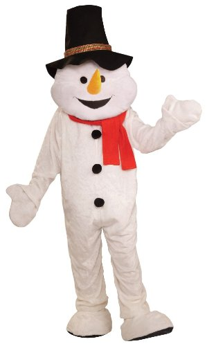 Forum Unisex Snowman Mascot Quality Costume top Hat White Standard to XXL
