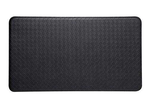 Imprint Anti-Fatigue Nantucket Series 20-Inch by 36-Inch Comfort Mats, Black