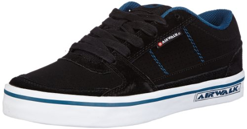 Airwalk Boys TIME PU Low Top Black Schwarz (Noir/Petrol) Size: 2.5 (35 EU)