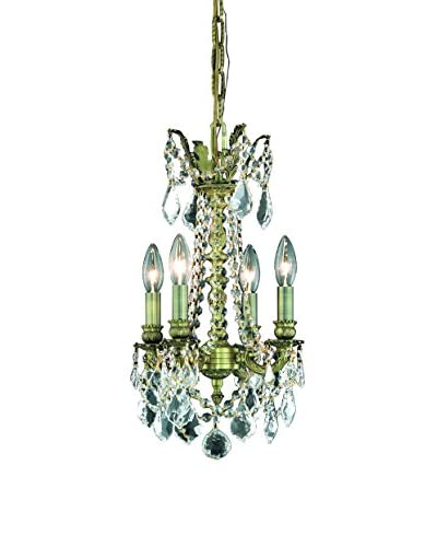 Crystal Lighting Rosalia 4-Light 22 Hanging Fixture, Antique Bronze