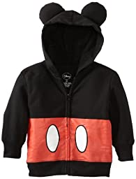 Disney Little Boys\' Mickey Mouse Hoodie, Black, 3T
