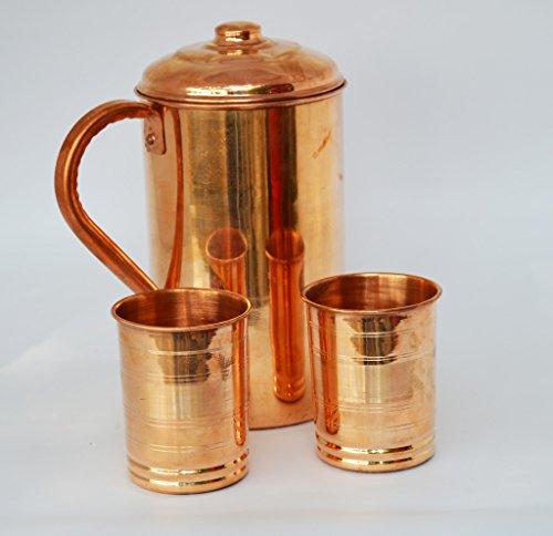 lot-de-2-verres-a-eau-potable-1-cuivre-broc-pichet-verre-produit-ideal-pour-les-seances-dayurveda