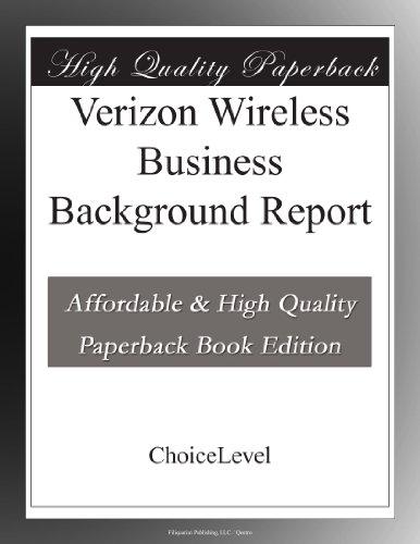 verizon-wireless-business-background-report
