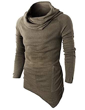 h2h mens fashion turtleneck slim fit pullover sweater