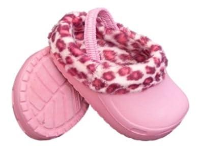 surf bay infant pink leopard print clogs