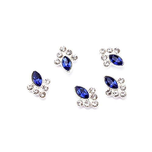 Rain Queen Retro Style Nails Art 3d Oval Cameo Insert Rhinestones for Nails DIY Decoration (rhinestone blue cameo)