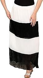 Rvestir Women's Poly Georgette Skirt (OM162)