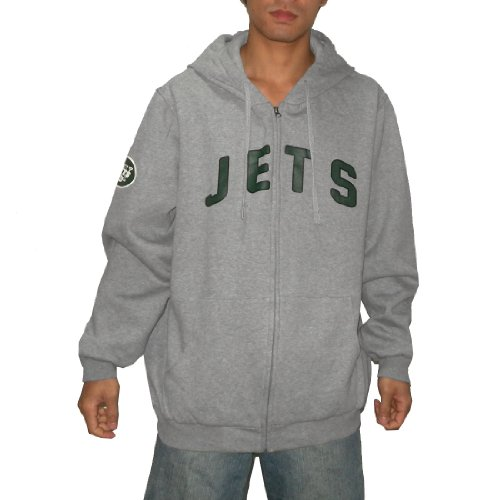 NFL New York Jets Mens Heavy Weight Athletic Warm Zip-Up Hoodie / Sweatshirt Jacket (Size: XXL)