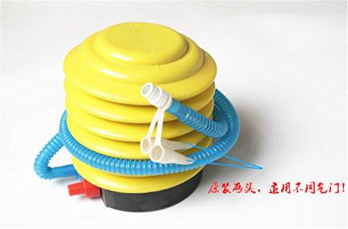 Omos Fussluftpumpe Inflator fuer Ballon Schwimmen Ring Aufblasbares Tragbares Spielzeug (Klein)