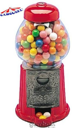 Carousel Petite Size Antique Gumball Machine with 8oz of Gumballs (Small Gumballs For Candy Machine compare prices)