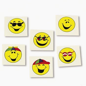 Smile Face Tattoos (6 dz) by Fun Express