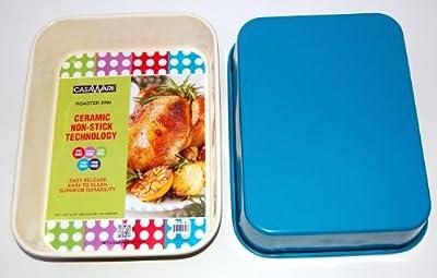 casaWare Ceramic Coated NonStick Lasagna/Roaster Pan 13 x 10 x 3-Inch