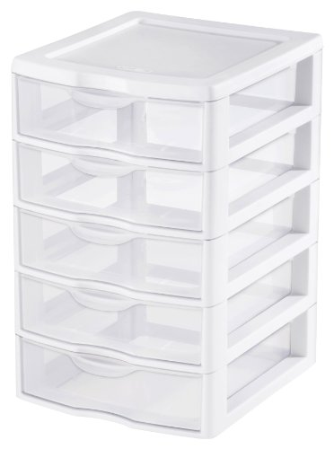Sterilite 2194-1570 5 Drawer Clear View Storage Unit (Stackable Storage Drawers compare prices)