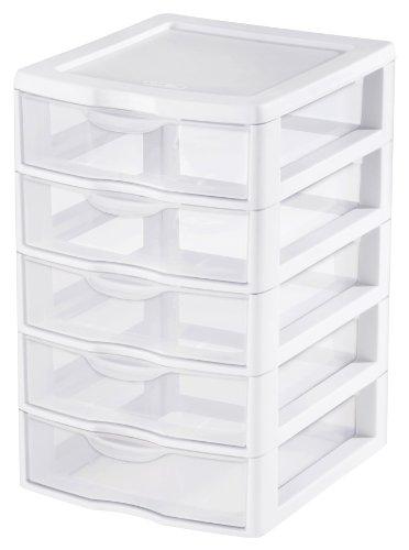 Sterilite 2194-1570 5 Drawer Clear View Storage Unit (Sterilite Modular System compare prices)